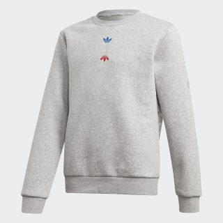 Large Logo Crew sweatshirt Medium Grey Heather / Silver Metallic FT8821