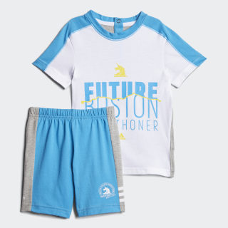 Boston Marathon® Set Medium Grey Heather / Shock Cyan EJ6270