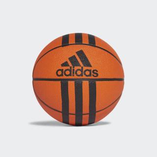Мини баскетбольный мяч 3-Stripes orange / black X53042
