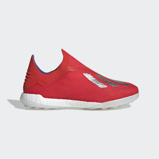 Chaussure X Tango 18+ Turf Active Red / Silver Met. / Bold Blue BB9389