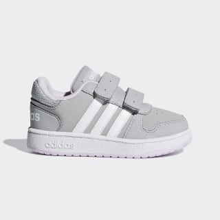 Zapatilla Hoops 2.0 Grey Two / Ftwr White / Aero Pink F35896