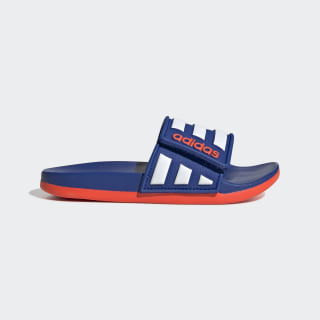 Adilette Comfort Adjustable Slides Team Royal Blue / Cloud White / Solar Red EG1351