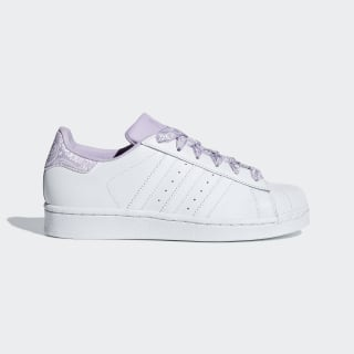 Superstar Shoes Cloud White / Cloud White / Purple Glow CM8599