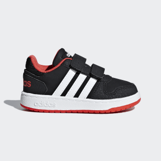 Hoops 2.0 Shoes Core Black / Cloud White / Hi-Res Red B75965