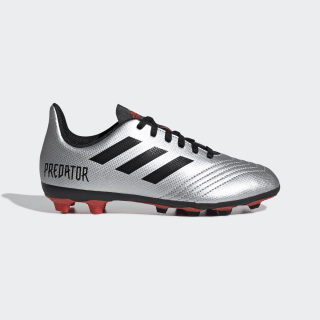 Zapatos de Fútbol Predator 19.4 Multiterreno Silver Metallic / Core Black / Hi-Res Red G25822