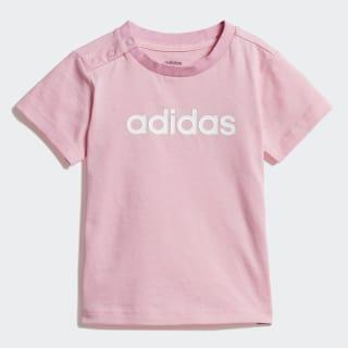 Linear Tee Light Pink / White DV1273