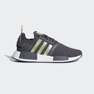 NMD_R1 Shoes Grey Five / Gold Met. / Pyrite B37651