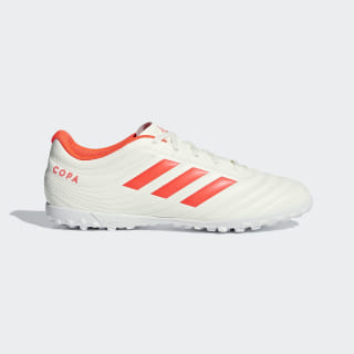Copa 19.4 Turf Boots Off White / Solar Red / Off White D98070