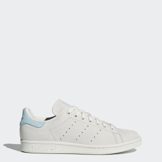 Women's Stan Smith Shoes Crystal White/Crystal White/Icey Blue BZ0390