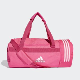 Convertible 3-Stripes Duffel Bag Medium shock pink / white / white DM7790