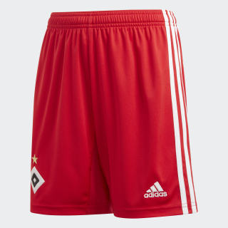 Hamburger SV Home Shorts Scarlet / White DX5921
