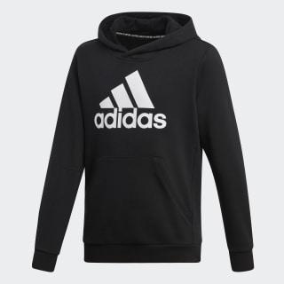 Sweat-shirt à capuche Must Haves Badge of Sport Black / White DV0821