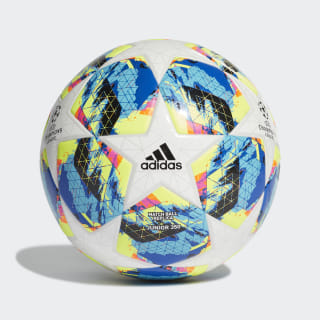 Футбольный мяч Finale 350 white / bright cyan / solar yellow / shock pink DY2550