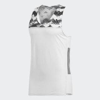 Camiseta Adizero Crystal White / Black CG0969