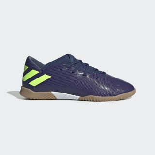Zapatilla de fútbol sala Nemeziz Messi 19.3 Indoor Tech Indigo / Signal Green / Glory Purple EF1815