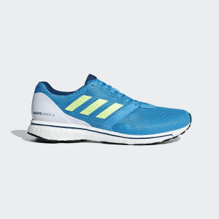 Adizero Adios 4 Shoes Shock Cyan / Hi-Res Yellow / Legend Marine B37309