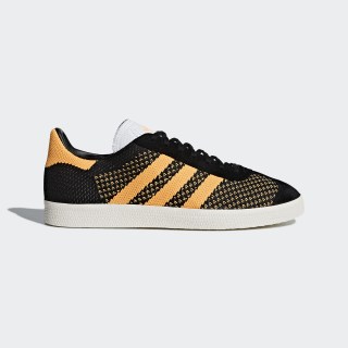 Gazelle Primeknit sko Core Black/Real Gold/Chalk White CQ2791