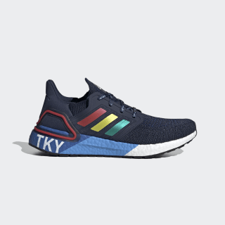 Ultraboost 20 Tokyo City Pack Shoes Collegiate Navy / Glory Red / Shock Yellow FX7811