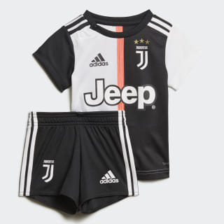Kit Principal da Juventus para Bebé Black / White DW5465