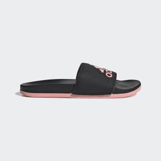 Adilette Cloudfoam Plus Logo sandaler Core Black / Glory Pink / Core Black EG1866