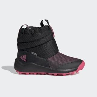 Čižmy RapidaSnow Core Black / Real Pink / Cloud White EE6172