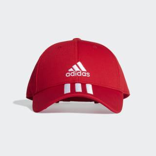 Baseball 3-Stripes Twill Cap Scarlet / White / White FK0897
