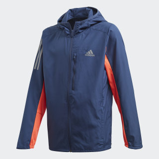 Own the Run Wind Jacket Tech Indigo / Vivid Red / Reflective Silver FK9514