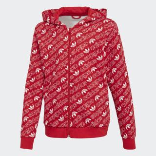 Veste à capuche Trefoil Monogram Collegiate Red / White DH2697