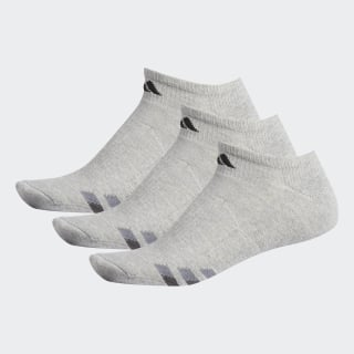 Cushioned No-Show Socks 3 Pairs Light Onix / Black / Granite H77467
