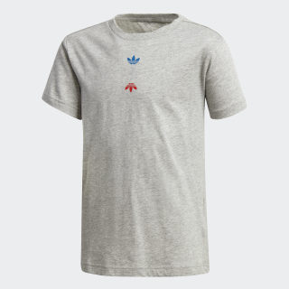Linear Logo T-shirt Medium Grey Heather / Silver Metallic FT8817