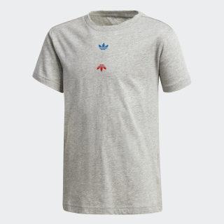 T-shirt Linear Logo Medium Grey Heather / Silver Metallic FT8817