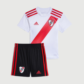 Minikit Uniforme Titular River Plate Niño Top:white/active red Bottom:BLACK/ACTIVE RED S19 FM1183