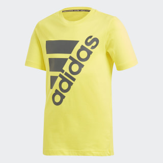 Must Haves Badge of Sport Tee Shock Yellow / Grey Six DV0796