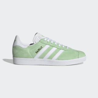Gazelle Shoes Glow Green / Cloud White / Gold Metallic EE5534