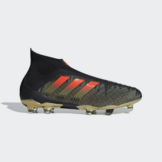 Paul Pogba Predator 18+ Firm Ground Boots Core Black / Solar Red / Olive Cargo CG7050