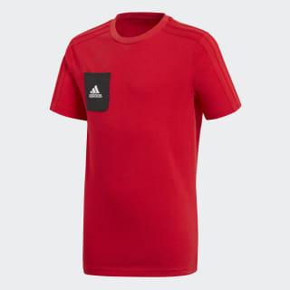 Футболка спортивная TIRO17 TEE Y scarlet / black / white BQ2664