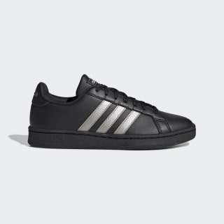 Grand Court Shoes Core Black / Platinum Metallic / Core Black EE8133