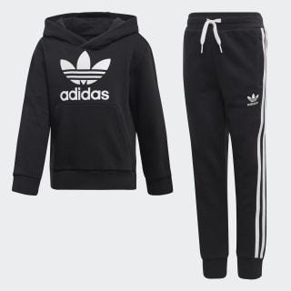 Pants Con sudadera Trefoil Top:black/white Bottom:BLACK/WHITE DV2847