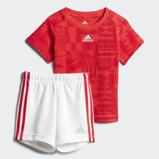 Conjunto Football Summer VIVID RED S13/SCARLET/MATTE SILVER WHITE/VIVID RED S13/MATTE SILVER CF7416