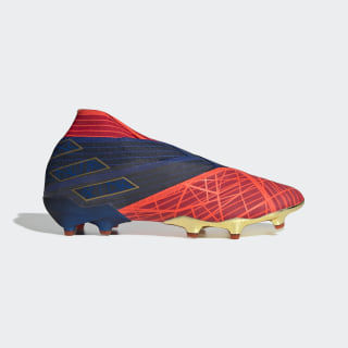 Футбольные бутсы Nemeziz 19+ FG adidas x Marvel Spider-Man scarlet / collegiate navy / solar red EF4132
