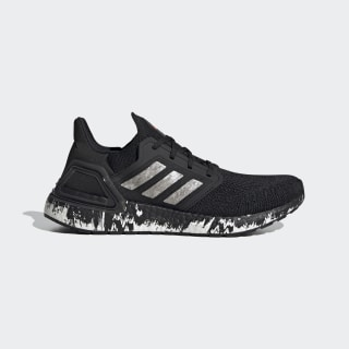 Кроссовки для бега Ultraboost 20 Core Black / Cloud White / Signal Coral EG1342