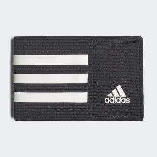 Fascia da capitano di calcio Black / White CF1051