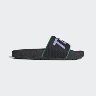 Шлепанцы Adilette Terrex Core Black / Light Purple / Glory Green EH2072