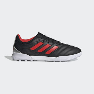 Chuteira Copa 19.3 Society Core Black / Hi-Res Red / Silver Metallic F35506