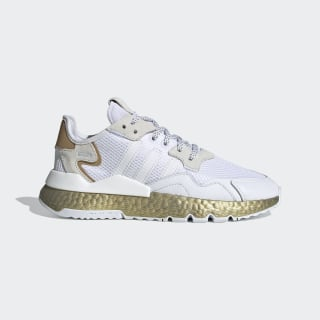 Zapatilla Nite Jogger Cloud White / Periwinkle / Gold Metallic FV4138