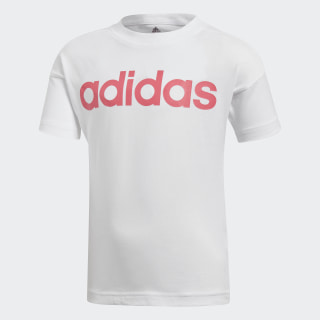Little Kids Linear T-shirt White / Super Pink / Super Pink DJ1531