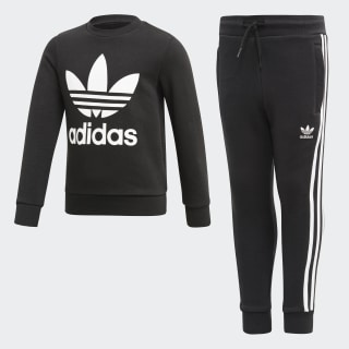 Crew Sweatshirt-Set Black / White ED7728