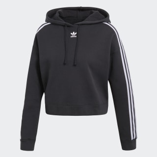 adidas bluza z kapturem cropped