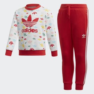 Sweatshirt-Set White / Multicolor / Lush Red FM4946