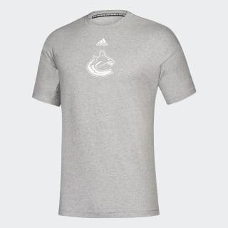 T-shirt Must Haves3-Stripes Canucks Nhl-Vca-51c / Medium Grey Heather / White EK3105